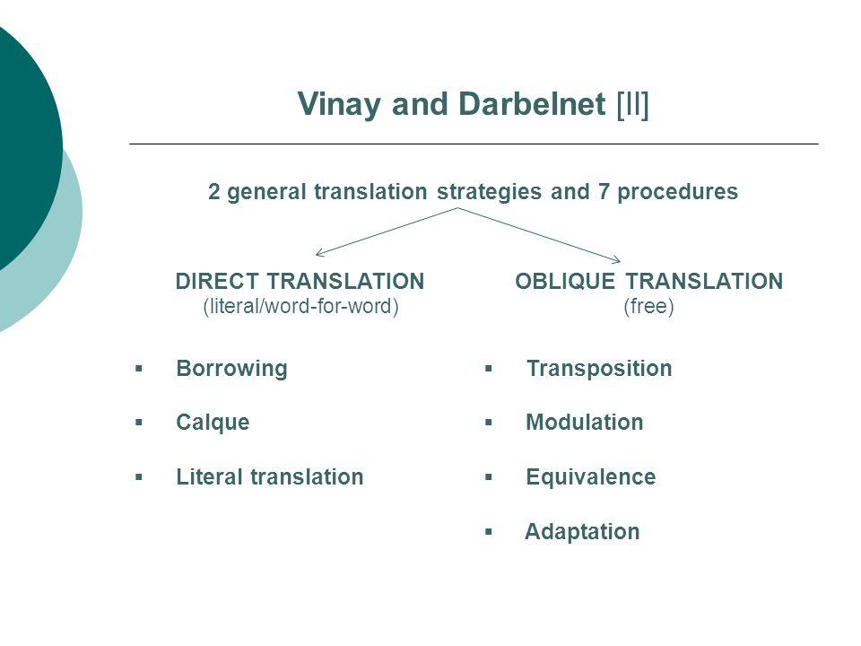 Vinay and Darbelnet [II]